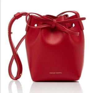Mansur Gavriel Red calf leather baby bucket bag